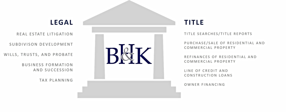 It's these two pillars together that make our firm distinctive and vital in our community. We offer a unique level of personalized services, market knowledge and legal experience to our clients.