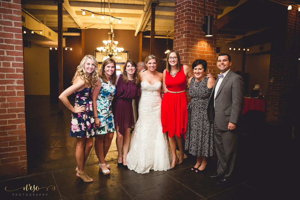 L to R: Kayley Schneck, Hayley Stone, Kim Schneck, Brittany Davis, Caitlin Land, Kay Burns, Bryce Kirksey, Photo Credit: Amanda Urso Perry,   Urso Photography