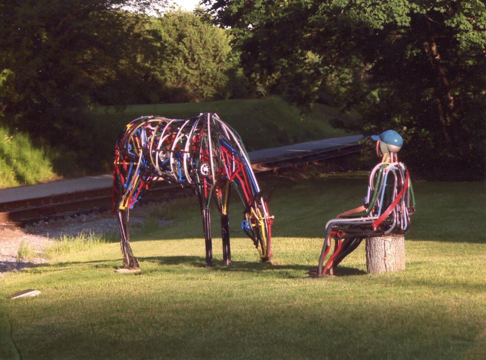Grazing Horse, Resting Hiker