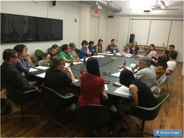 NYFA Group discussion on the Immigrant Artist Program (IAP), serving a community of artists with diverse backgrounds who share the experience of immigration. Photo credit: Giada Crispiels.