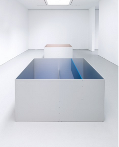 Installation view of the 2011 exhibition Donald Judd at David Zwirner in New York. Art © Judd Foundation. Licensed by VAGA, New York, NY. Courtesy of David Zwirner, New York/London.