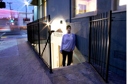 Jessica Silverman outside of her first Dogpatch space in 2006.