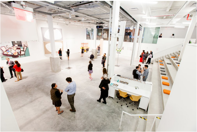 Photo: View of the Gallery at BRIC Arts Media House