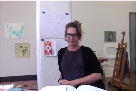 Sharon Butler in her DUMBO studio. Source: Two Coats of Paints. Image copy.
