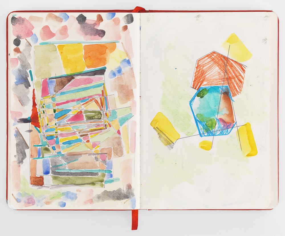 Austin Thomas, Notebook, 2015 7 x 10 inches, watercolor with pen and pencil