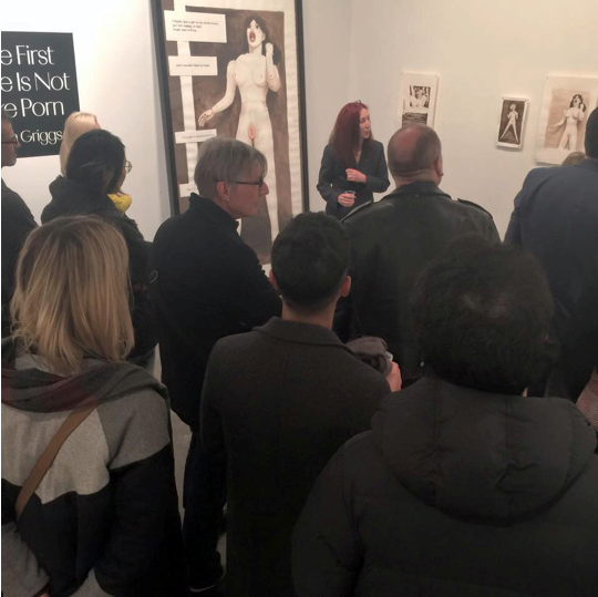 Image Caption: CSG/NY artist lecture night with Linda Griggs