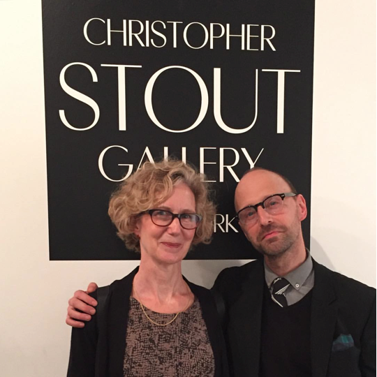 Image Caption: CSG/NY Opening Night, Portrait with Artist Anne Sherwood Pundyk