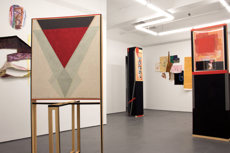 Conversation Space, a two-person exhibition featuring recent work by Caroline Santa and Jen Schwarting, curated by Rachael Gorchov. Image courtesy of TSA.