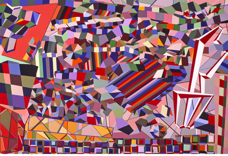 "Untitled, 2000, Acrylic on canvas, 60"" x 84"". Image Courtesy: Zachary Keeting and FRED.GIAMPIETRO Gallery"