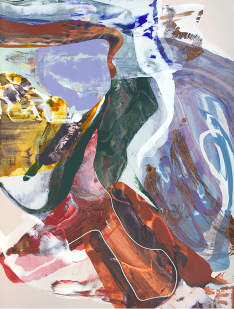 """April (8),2010,Acrylic on paper,30"""" x 22"""",Image courtesy:Zachary Keeting and FRED.GIAMPIETRO Gallery"""