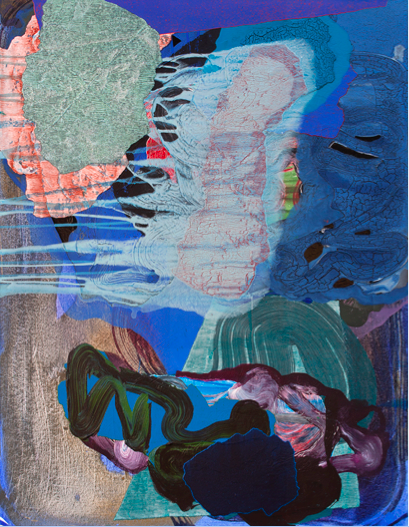 """April (1),2016,Acrylic on canvas,46"""" x 36"""",Image courtesy: Zachary Keeting and FRED.GIAMPIETRO Gallery"""