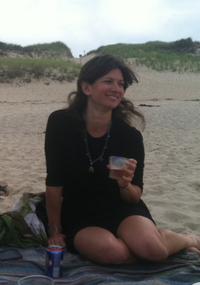 "Jennifer Samet, in Truro, Massachusetts, for ""Beer with a Painter"" interview with Sharon Horvath."