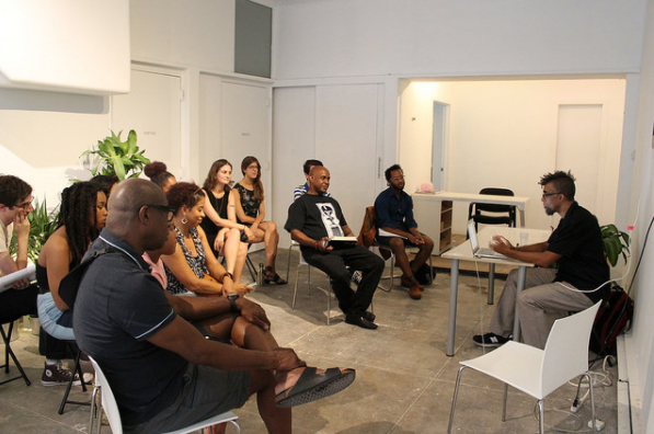 Art + Money talk with artist Dread Scott at Black Art Incubator. Photo courtesy of Recess.