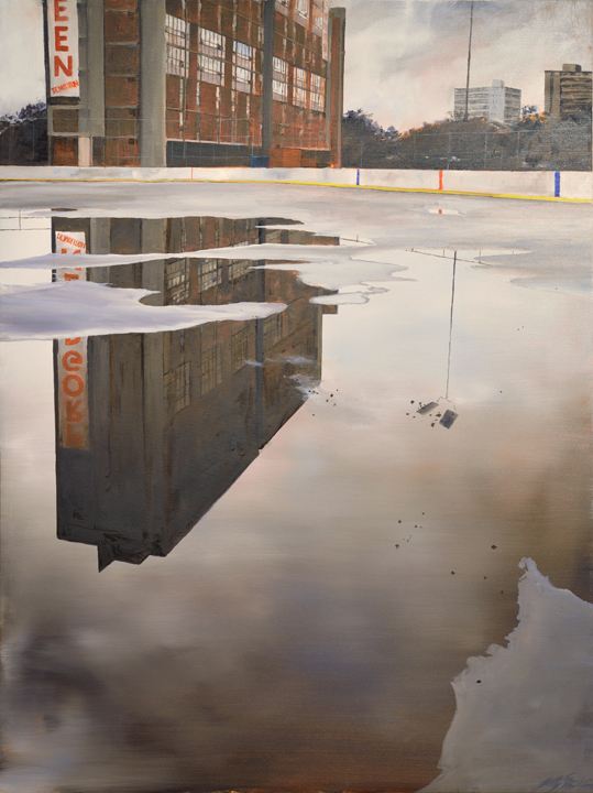 The Rink (2014) 48 x 36 oil on canvas