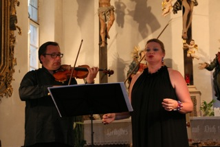 The Diva and the Fiddler perform in Bad Ischl, Austria.