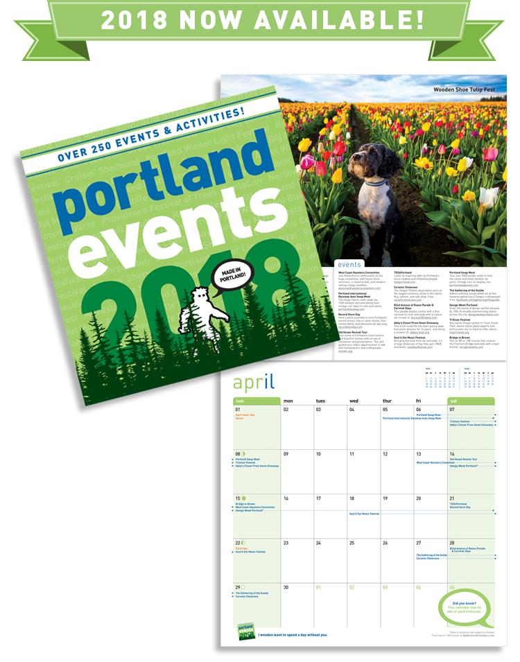 Portland Events Wall Calendar 2017