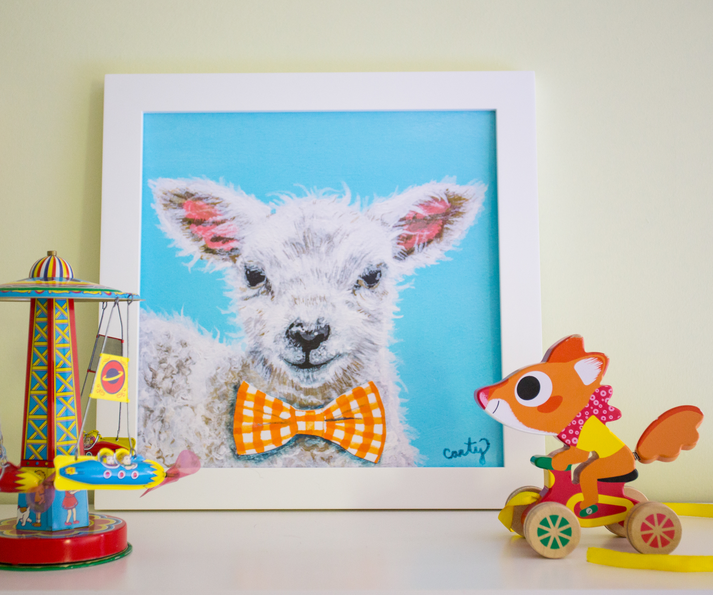 Lamb Art Print by Megan Carty