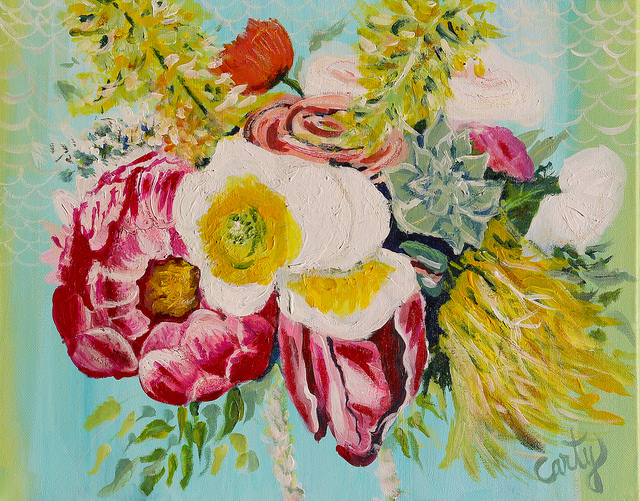 Impressionistic Floral Painting