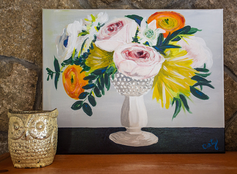 Colorful floral painting