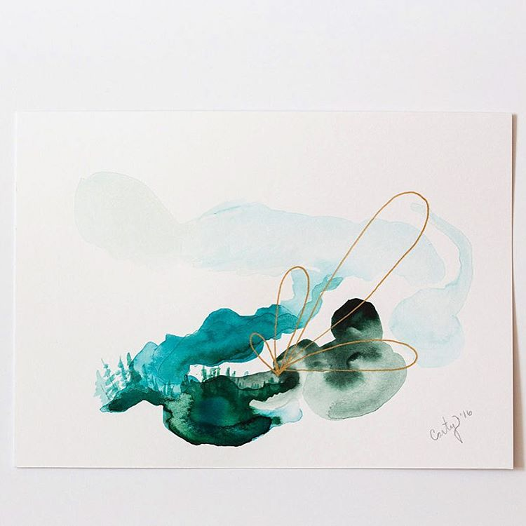 abstract watercolor painting by Megan Carty