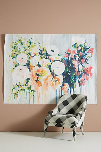 abstract floral art by Megan Carty for Anthropologie