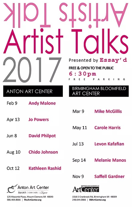 Artist Talk at Anton Art Center 02/09/2017