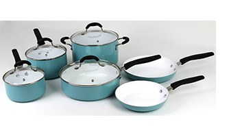 ONEIDA 10 PC ALUMINUM COOKWARE SET - Marine Blue ITEM #35014