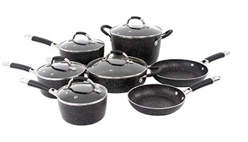 ONEIDA 12 PC FORGED ALUMINUM COOKWARE SET - BLACK STONE ITEM #35023
