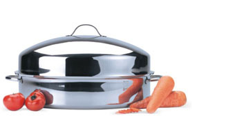 ONEIDA STAINLESS STEEL OVAL ROASTER W/ DOMED LID ITEM #35103
