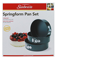 sunbeam set 3 springform pan set Item #63002