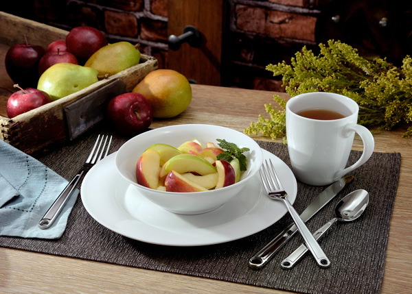 "American Loft Dinnerware  - The new American Loft dinnerware collection includes:American Loft - 12pc Set Configuration (Retail $29.99) 4 Dinner Plates – 10.75""4 Soup/Cereal Bowls – 7""4 Mugs – 14 oz"