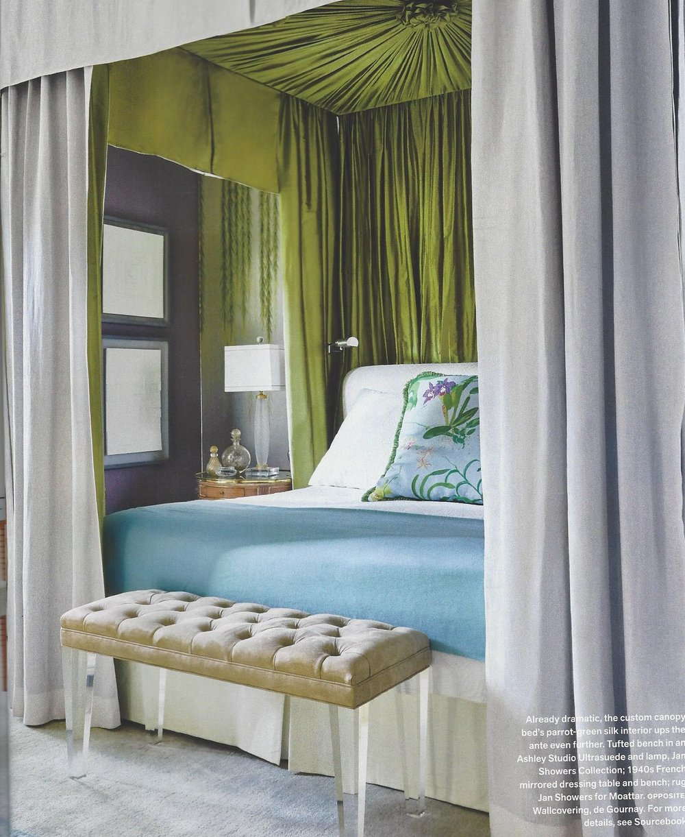 Oh My Goodness! To Get To Go To Sleep At Night And See That Beautiful Green  Silk Above The Bed  Truly Fit For A King Or Queen.