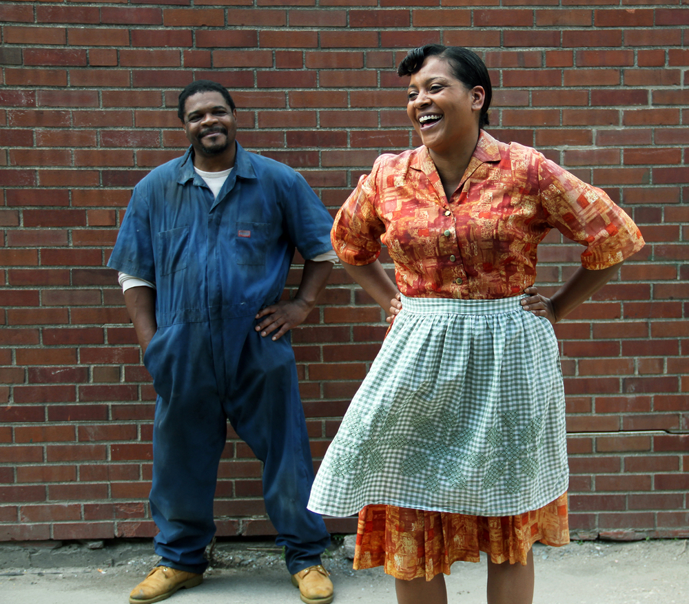 Tiffany Johnson and Aaron Smith in Fences-Des Moines Social Club 2014.  Photo: Andrea Markowski