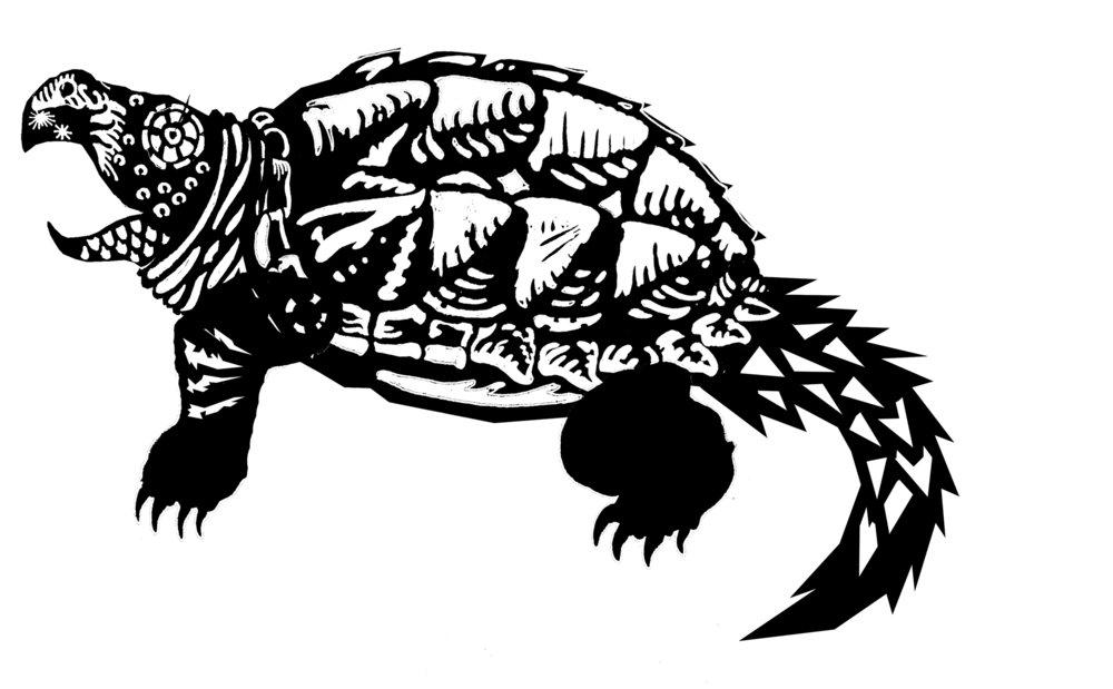Snapping Turtle, Digital Illustration, 2018