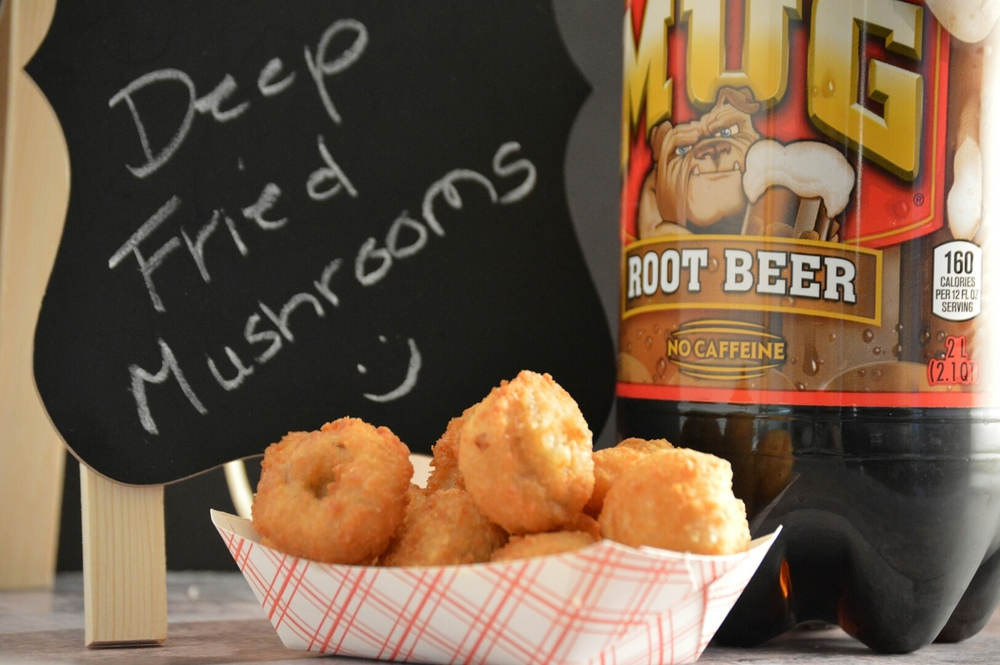 DEEP FRIED MUSHROOMS: Breaded mushrooms