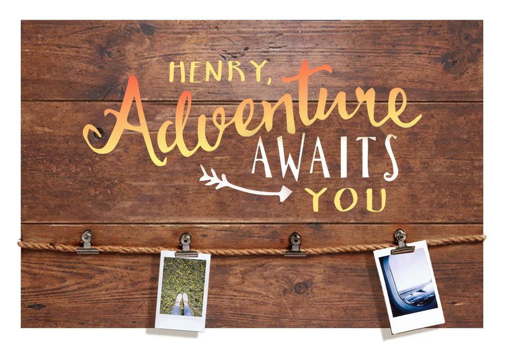 Adventure Memory Board- 18x14  (custom name)