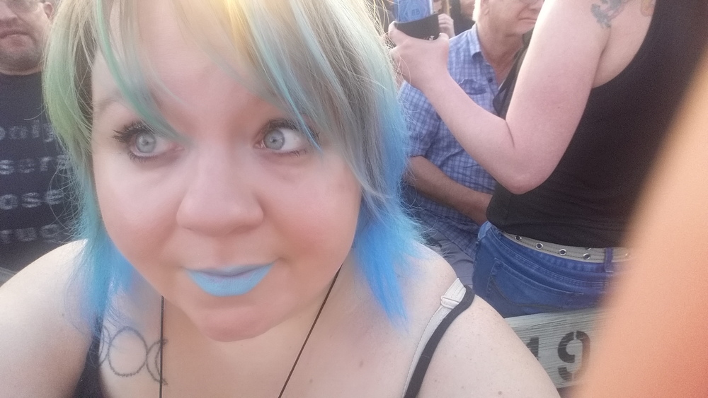 Me waiting for Heart in Hinckley. SO WORTH THE WAIT.