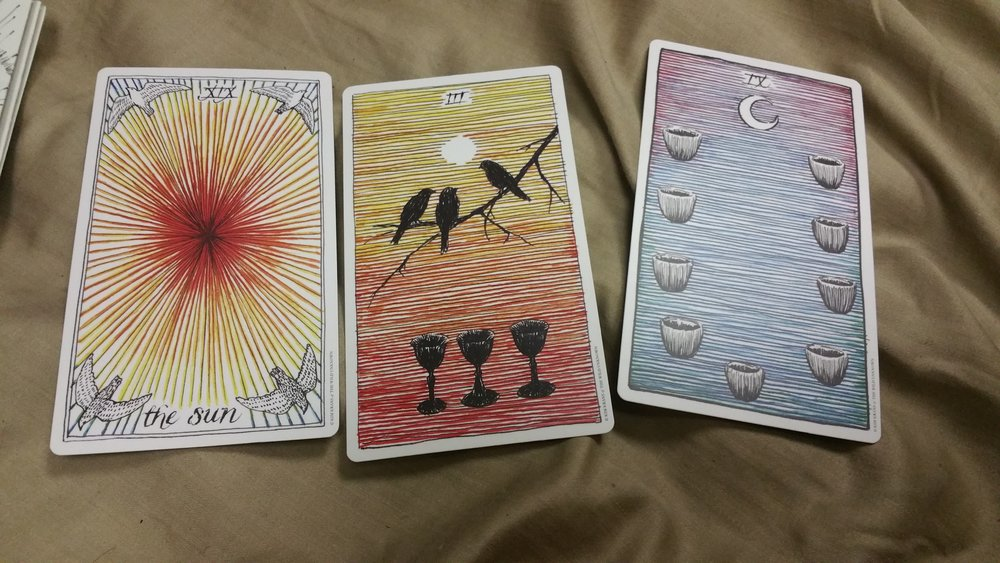 Just some happy cards about love and creation and stuff from the  Wild Unknown  tarot.