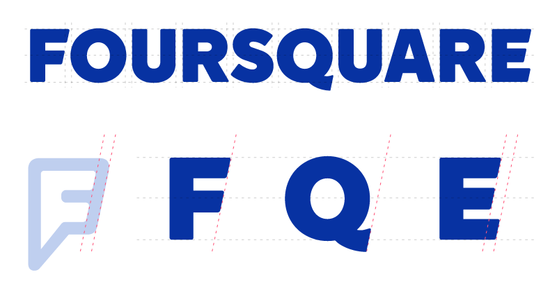 Angled cuts in the letterforms tie the wordmark to the F mark