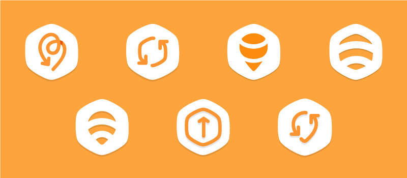 Earlier versions of Swarm's check-in button. We wanted it to feel light to represent the quickness of the action.