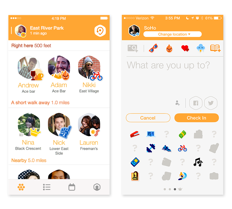 Final Swarm iconography and its placement in the app