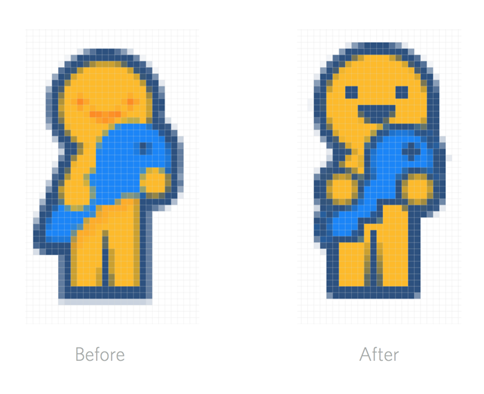 Pixel hinting process