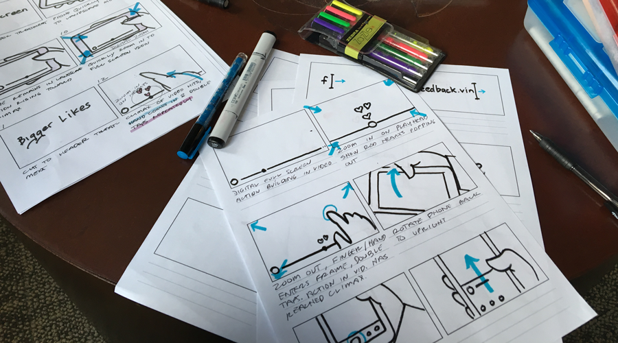 Refining the wireframes