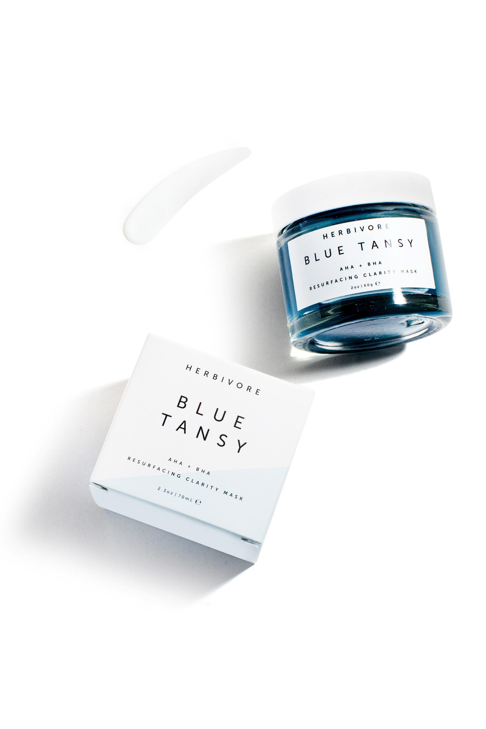 HERBIVORE BOTANICALS - Blue Tansy AHA + Resurfacing Clarity Mask (A joyous experience)