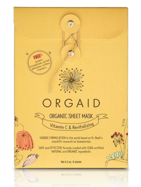 ORGAID - Vitamin C & Revitalizing Organic Sheet Mask Box (6 sheets)