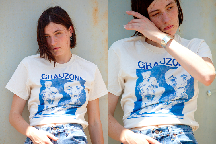 LAS CRUXES - Grauzone Fan Club Tee Natural