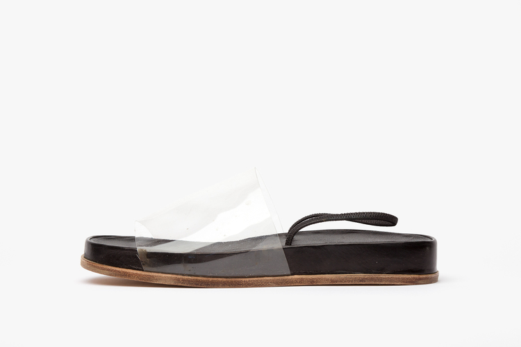 JAMES ROWLAND SHOP - Leather and Vinyl Sandals