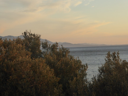 Water colour skies above the Adriatic -