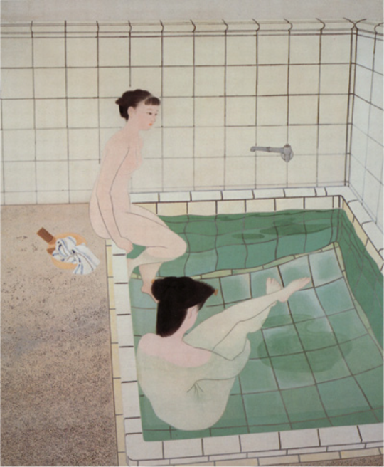 小倉 遊亀 Yuki Ogura (1895-2000), Donne Lavandosi I, 1938 -