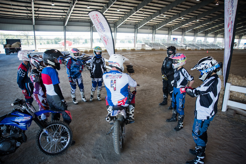Danny giving out some instructions between laps